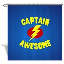 Unique Captain awesome Shower Curtain