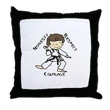 Honesty Respect Courage Throw Pillow