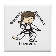 Honesty Respect Courage Tile Coaster