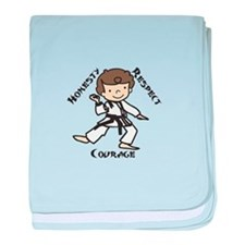 Honesty Respect Courage baby blanket