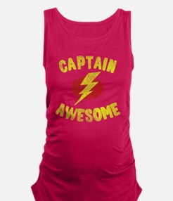 Captain Awesome Maternity Tank Top