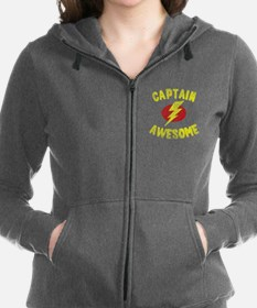 Captain Awesome Women's Zip Hoodie