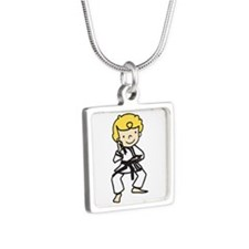 Blonde Karate Guy Necklaces