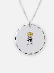 Blonde Karate Guy Necklace