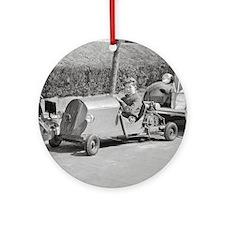 Go Kart Driver, 1937 Round Ornament