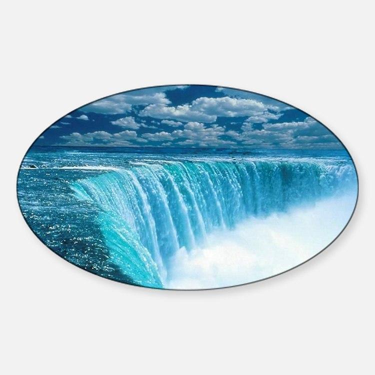 Niagra Falls Sticker (Oval)
