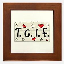 TGIF Framed Tile