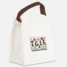 Thank Goodness It's Friday! Canvas Lunch Bag