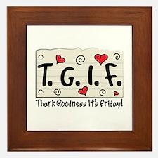 Thank Goodness It's Friday! Framed Tile