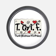 Thank Goodness It's Friday! Wall Clock