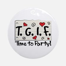 Time To Party! Ornament (Round)