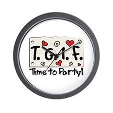 Time To Party! Wall Clock