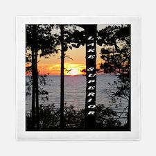 Lake Superior sunset Queen Duvet