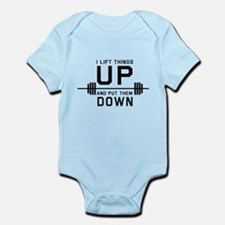 Lift things up put them down Body Suit
