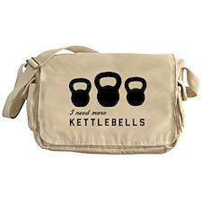 I need more kettlebells Messenger Bag