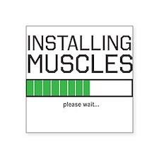 Installing muscles Sticker