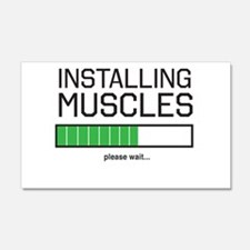 Installing muscles Wall Decal