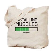Installing muscles Tote Bag