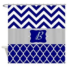 Navy And Blue Design Shower Curtain