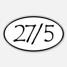 27in5 Lrg Decal
