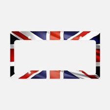 Artistic Union Jack License Plate Holder