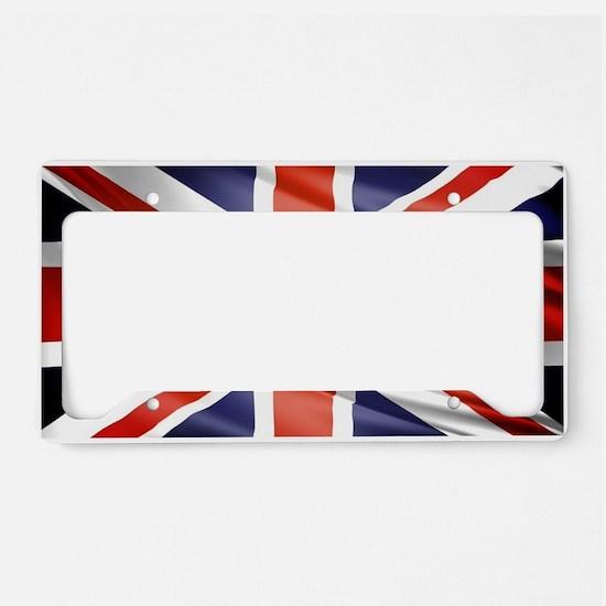 Artistic Union Jack License Plate Holder
