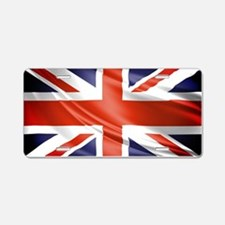 Artistic Union Jack Aluminum License Plate