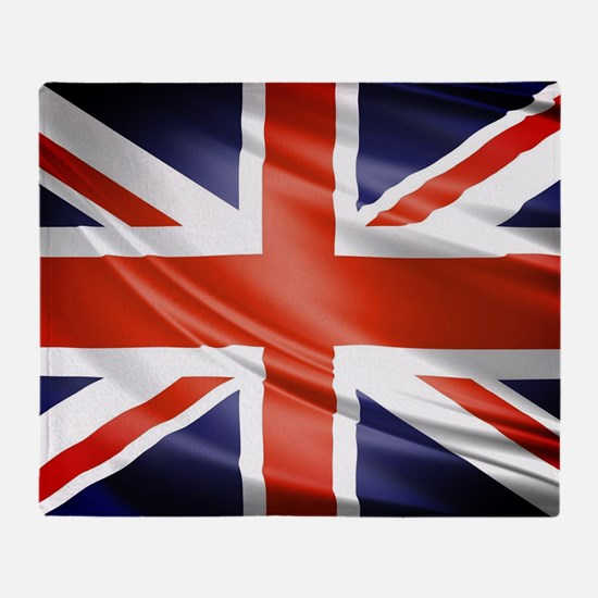 Artistic Union Jack Throw Blanket