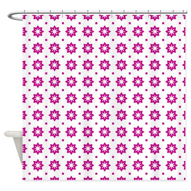 Pink And White Floral Pattern Shower Curtain By Admin Cp62117368
