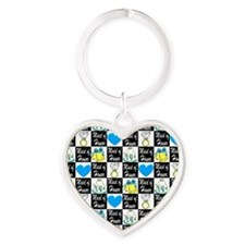 MAID OF HONOR LOVE Heart Keychain