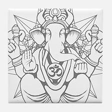 Unique Ganesh Tile Coaster