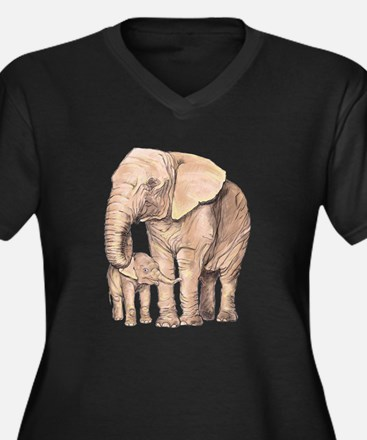 Mother and Child Plus Size T-Shirt
