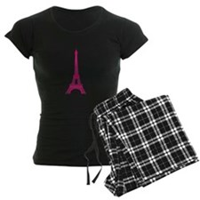 Hot Pink Eiffel Tower Pajamas