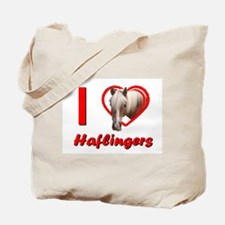 I Love Haflingers Tote Bag