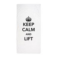 Keep calm and lift Beach Towel