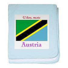 Gday Austria baby blanket