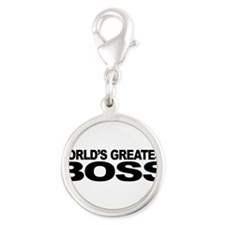 World's Greatest Boss Silver Round Charm