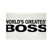 World's Greatest Boss Rectangle Magnet