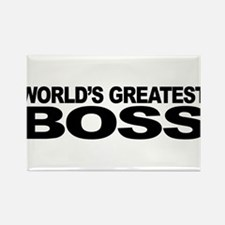 World's Greatest Boss Rectangle Magnet