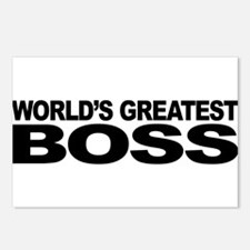 World's Greatest Boss Postcards (Package of 8)
