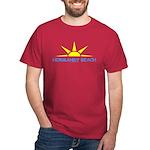 NORMANDY BEACH Sun - Cardinal T-Shirt