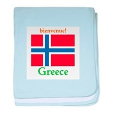 Bienvenue! Greece baby blanket