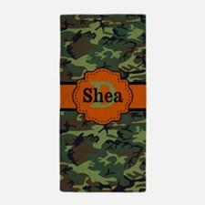 Camo Orange Personalized Beach Towel