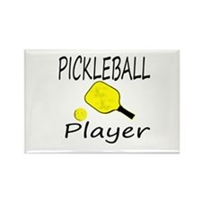 Pickleball player with paddle and ball Magnets