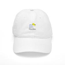 i love to play pickleball blue Baseball Baseball Cap