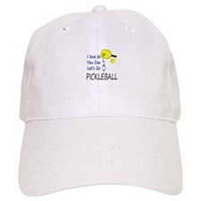 i love to play pickleball blue Baseball Cap