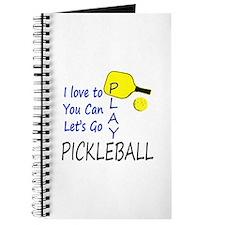 i love to play pickleball blue Journal