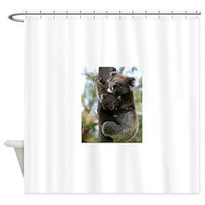 Australian Koala Mother and Baby Shower Curtain