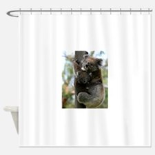 Australian Koala Mother and Baby Shower Curtain
