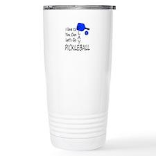 i love to play pickleball Travel Mug